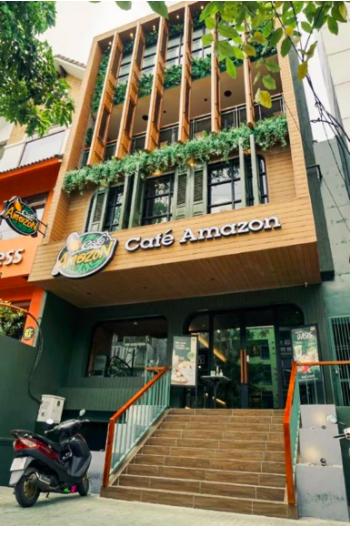 Cửa hàng đầu tiên của Café Amazon tại TP.HCM.