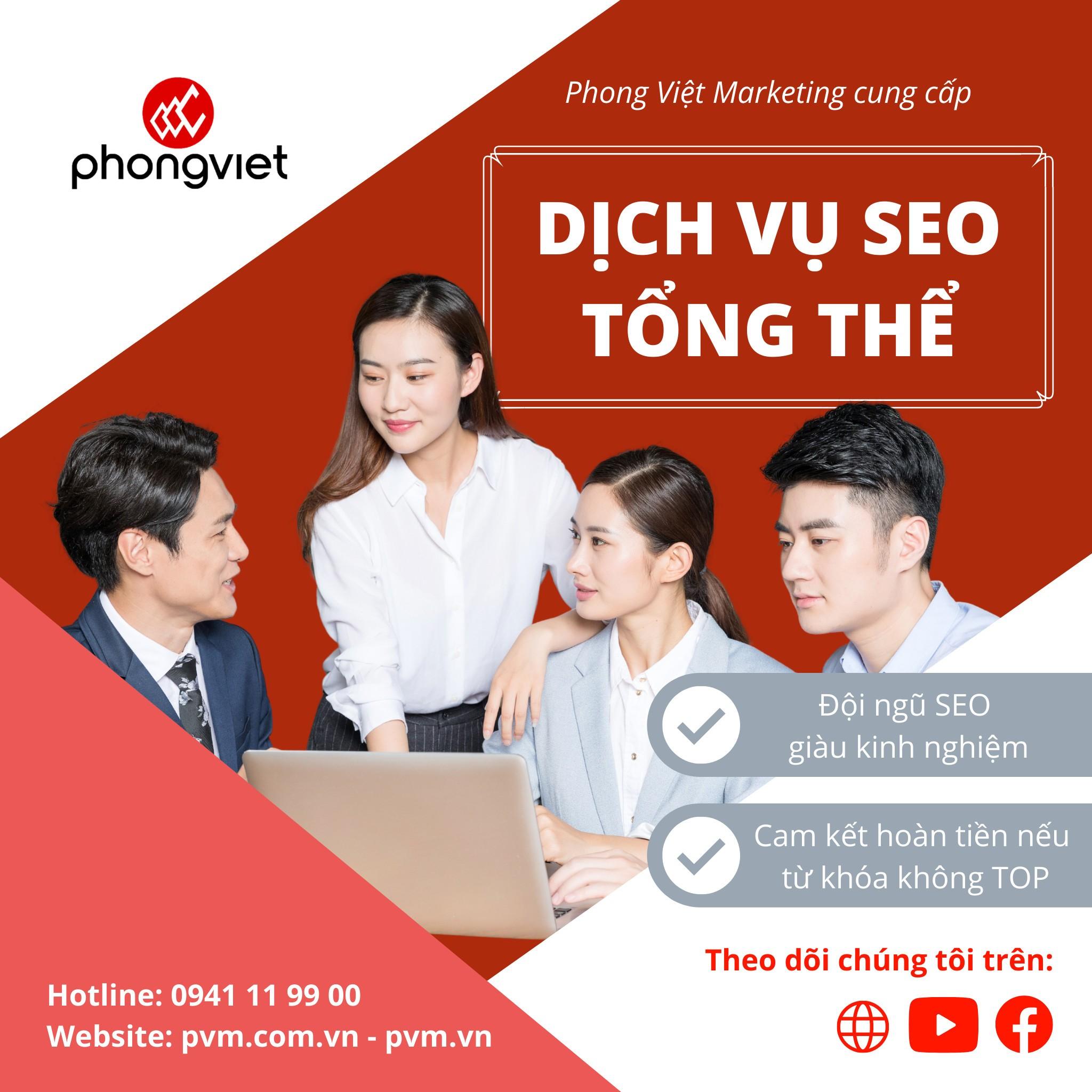 Phong Việt – Đơn vị chuyên cung cấp Dịch Vụ Marketing Online Tổng Thể cho Doanh nghiệp